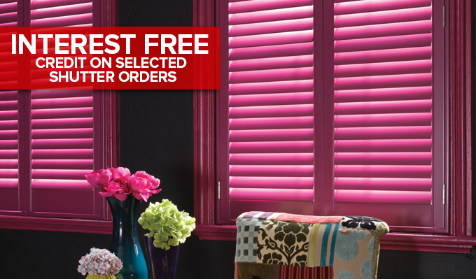 Interest Free credit on Shutters in Glasgow from Shades Blinds