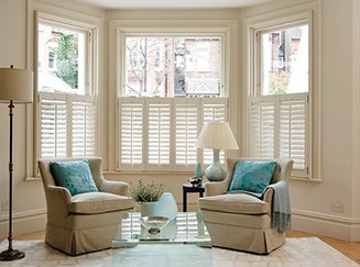 Livingroom Shutters from Shades Blinds