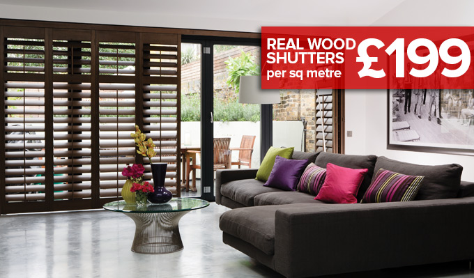 Real Wood Shutters from Shades