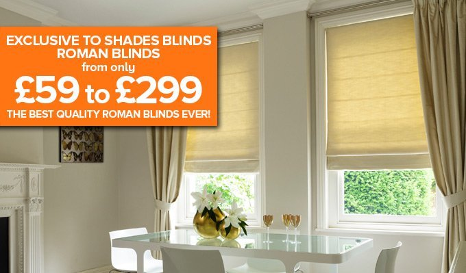 Roman Blinds from Shades Blinds