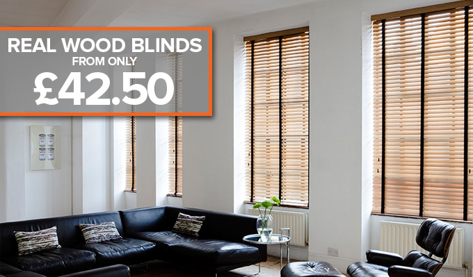 Wooden Venetian Blinds from Shades