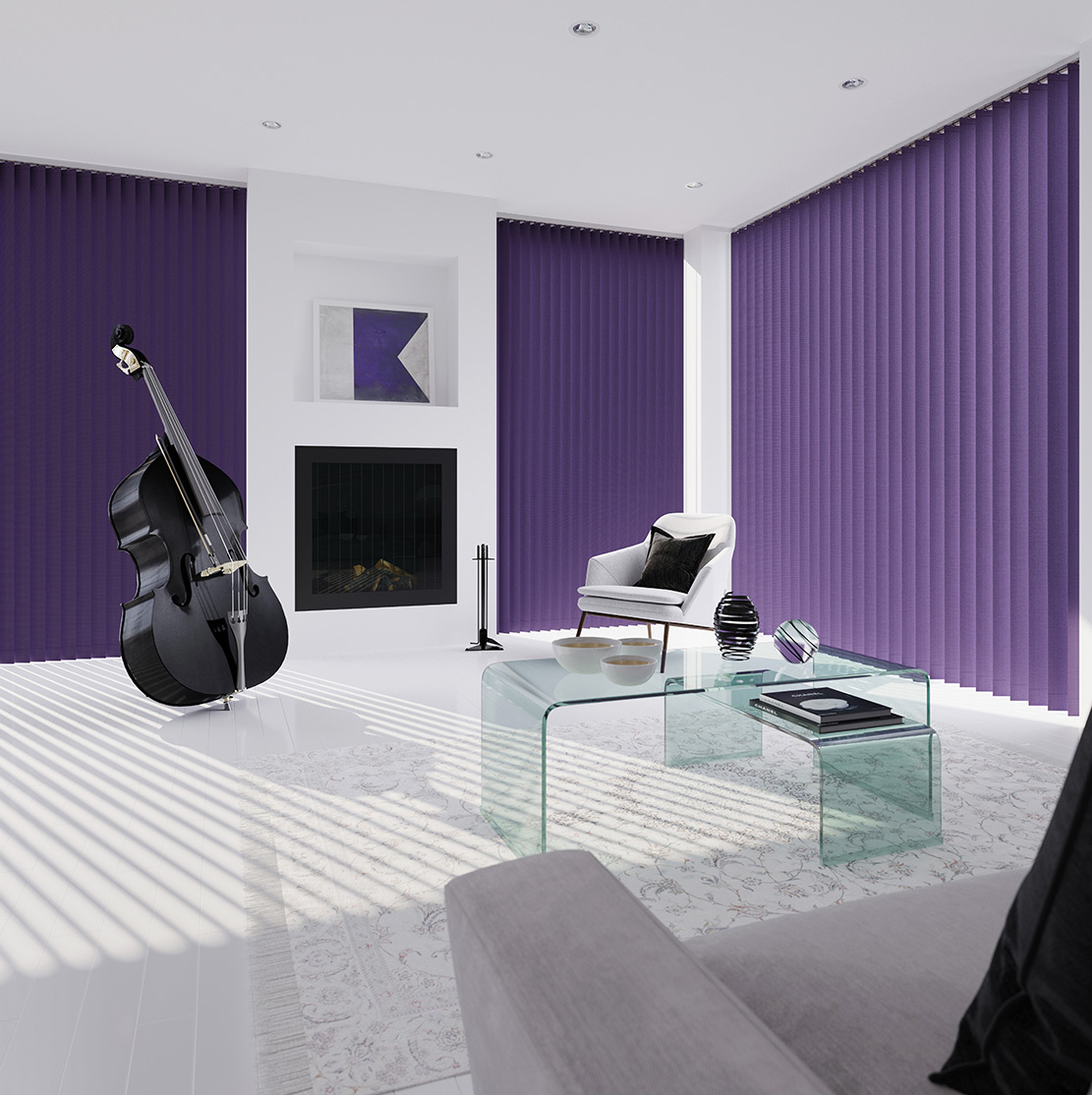 Purple Roller Shades : Purple vertical blinds shades