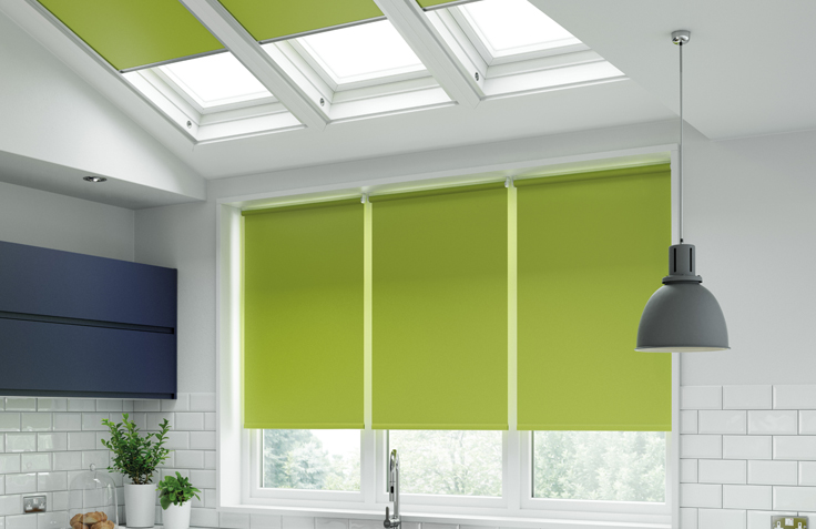 Pantone Kitchen Blind Green