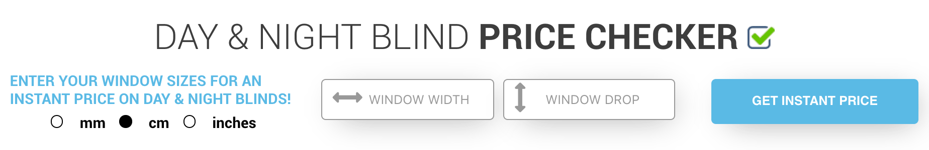 Day and Night Blind Price Checker
