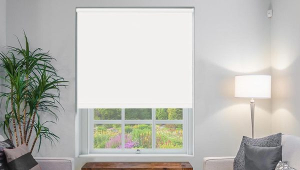 Designer White Roller Blind New Sq Metre Pricing