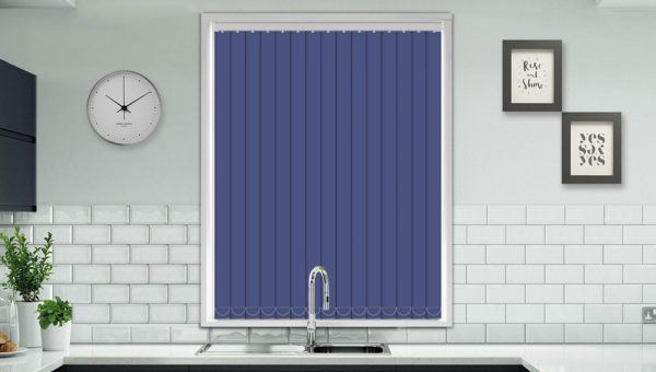 Classic Dark Blue Vertical Blind New Sq Metre Pricing
