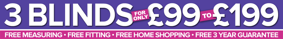 Shades Blinds 3 For £99 to £199